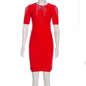 Theory bodycon dress small red